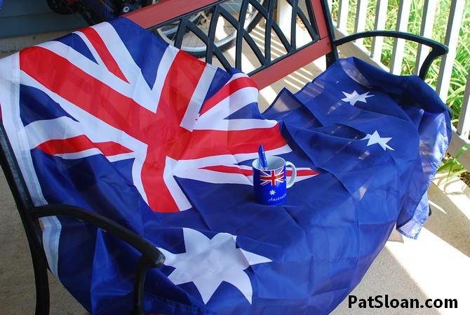 Pat Sloan australian flag