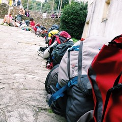 Waiting for a bed #albergue #alberguelife #caminodesantiago #vscocam