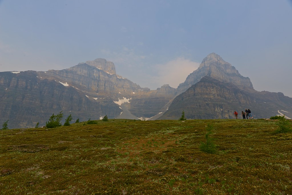 Hiking up to Sentinal Pass - Banff National Park