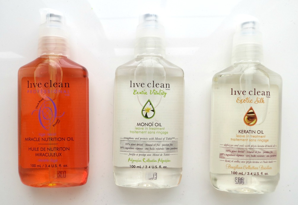 Live-Clean-Hair-Oils-Group, hair care