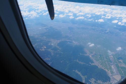 天草エアラインからの眺め