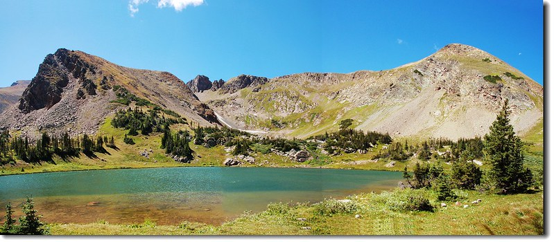 Panorama of Rogers Pass Lake 2