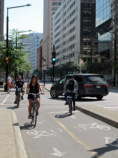 Montreal Separated Bike Lane