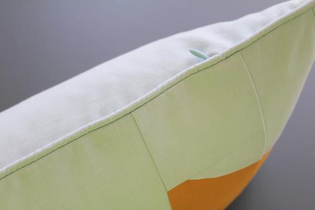 Leg Lamp Pillow Welting and Hidden Zipper