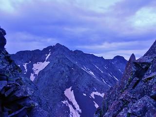 Mt Wilson and El Diente from Gladstone North Ridge