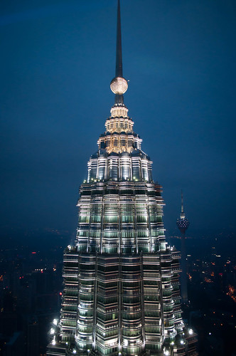 Petronas Tower with KL Tower in background