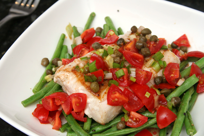 halibut green beans 5