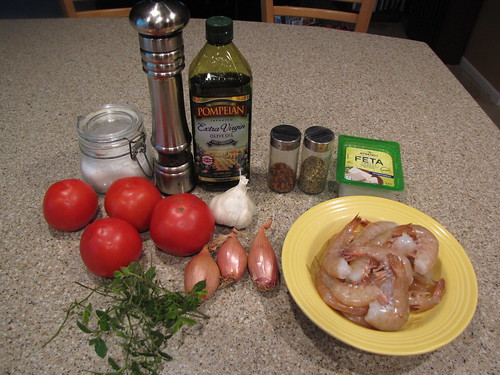 Greek Shrimp Ingredients