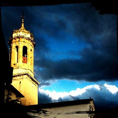 #cielos #tormenta  #contrastes #medieval #torre #Linaresdemora #Teruel #Aragón #fotomovil
