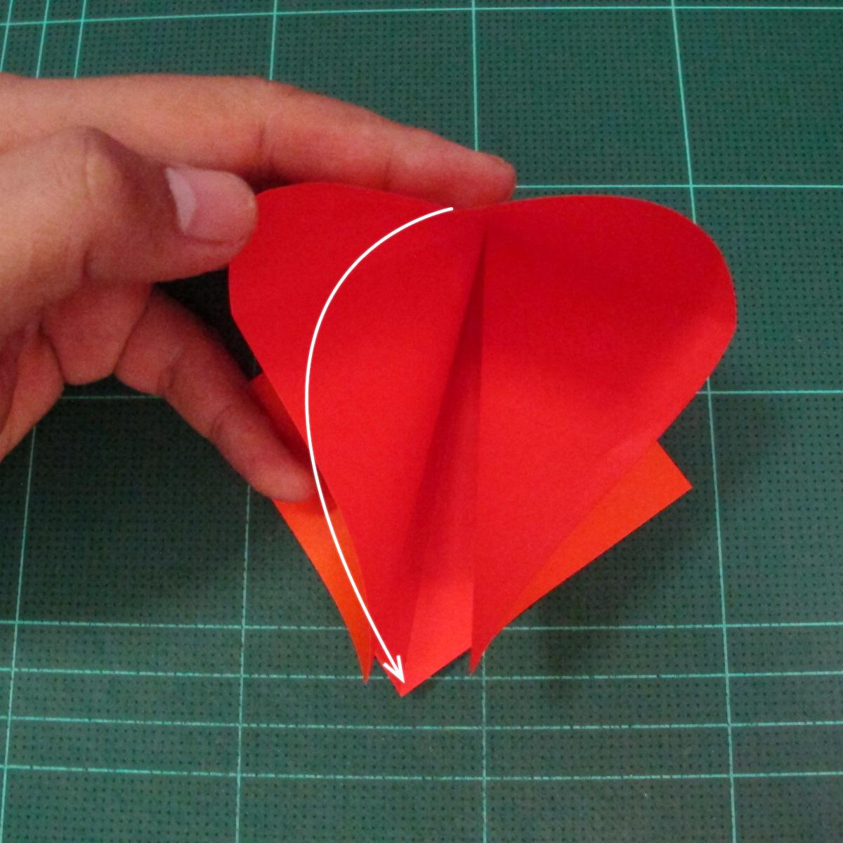 วิธีพับกระดาษเป็นช่อดอกไม้ติดอกเสื้อ (Origami Wedding Chest Flower) 004
