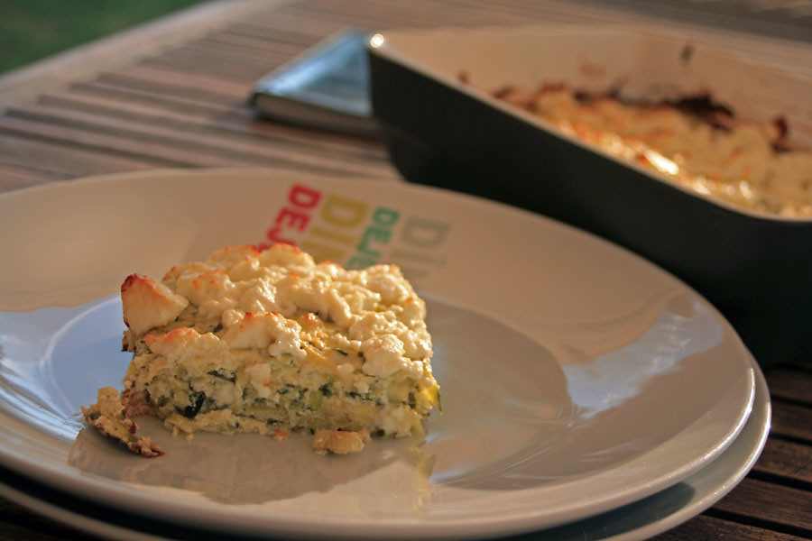 cheesecake de courgettes