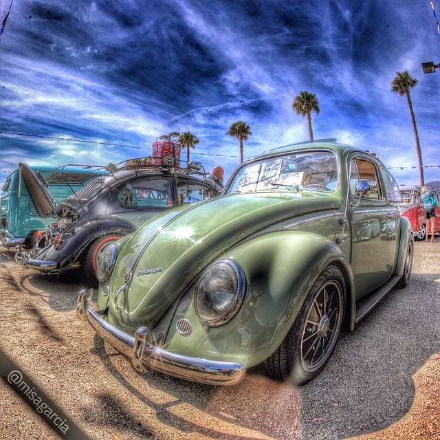 Another shot of Kristina Logan's '63 Ragtop street custom VW Beetle.