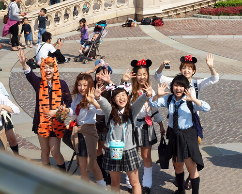 Japanese Schoolgirls in Disney