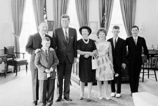 President John F. Kennedy with Unidentified Visitors