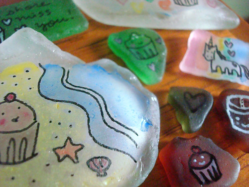 Seaglass paintings - puerto rico