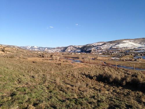 panorama usa america scenery colorado gypsum viewpoint springtime 美國