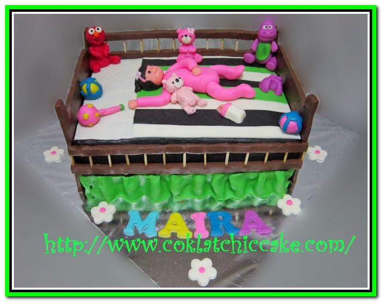 KUe ulang tahun tempat tidur bayi