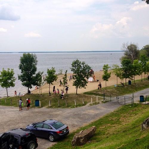 A peek at the beach, Robert Simpson Park in Arnprior. #latergram