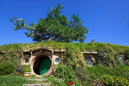 Bag End at Hobbiton in Matamata, New Zealand.