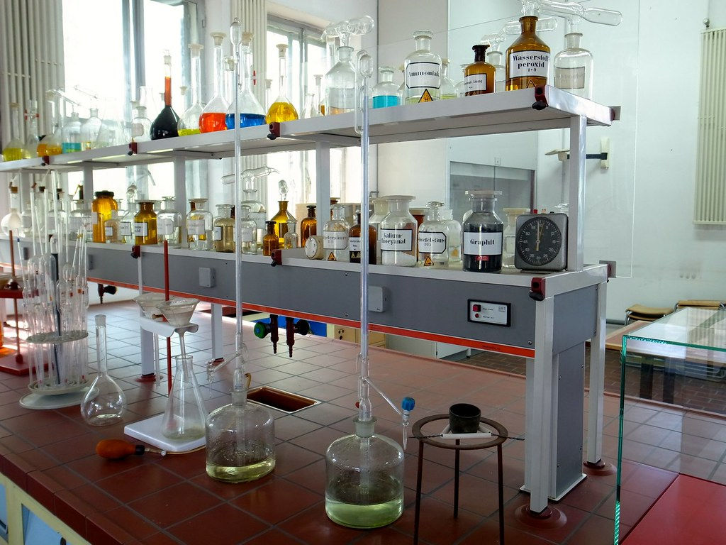 School chemistry lab