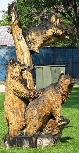 park statue wooden colorado treetrunk craig carvings smalltown