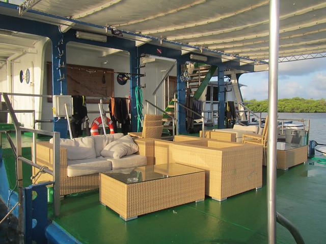 back deck of Tortuga Floating Hotel at Jardines De La Reina