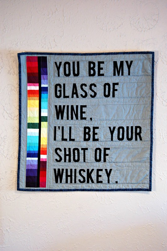 Wine and Whiskey Mini Quilt