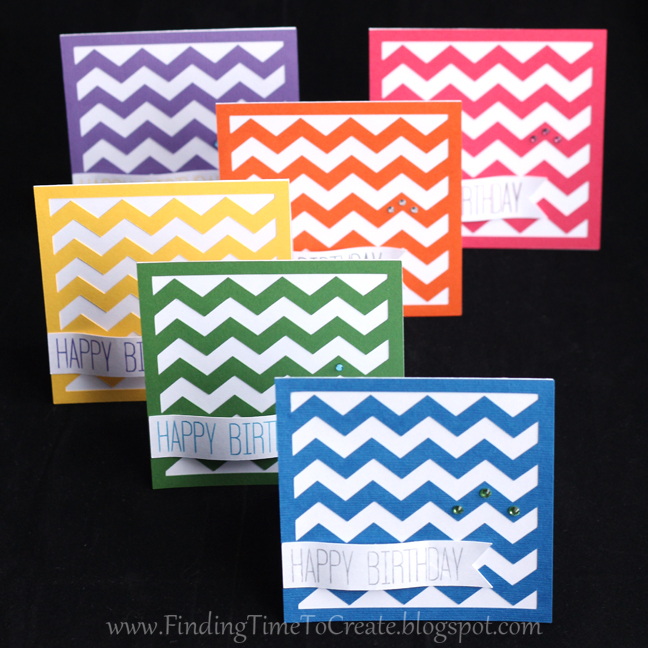 Chevron Birthday Card Set _ Finding Time To Create