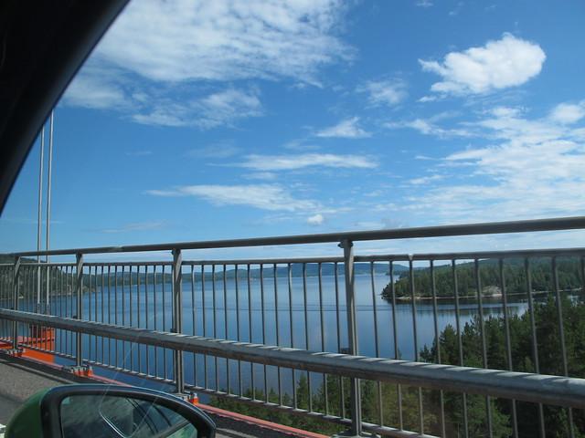 saturday, lunch at höga kusten bridge