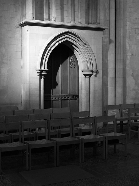 Presbytery  Door, St Albans Cathedral