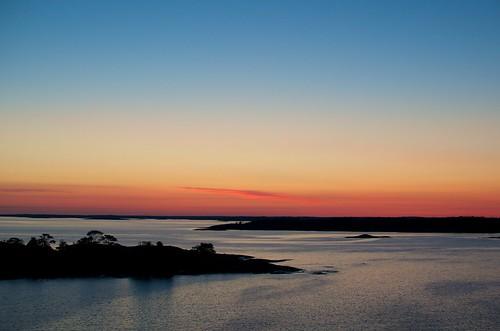 sunset sea sky finland island sweden baltic ferryboat åland åland