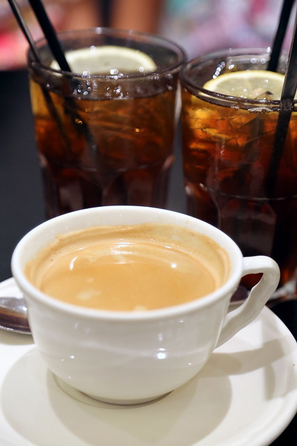 Coffee, tea or iced lemon tea to go with the lunch or dinner sets