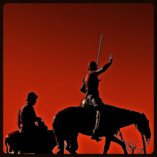 Don Quichotte, Pancha et Rosinante