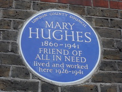 Photo of Mary Hughes blue plaque