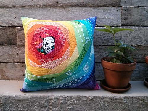 qayg rainbow cushion front