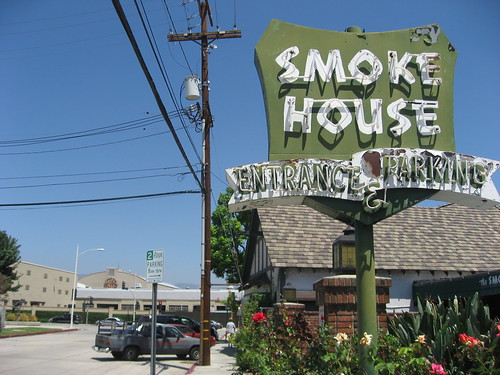 The Smoke House Burbank CA  Entrance Neon Sign