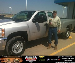 #HappyAnniversary to Ed Edwards on your 2013 #Chevrolet #Silverado 2500Hd from Hershel Coleman at Four Stars Auto Ranch!
