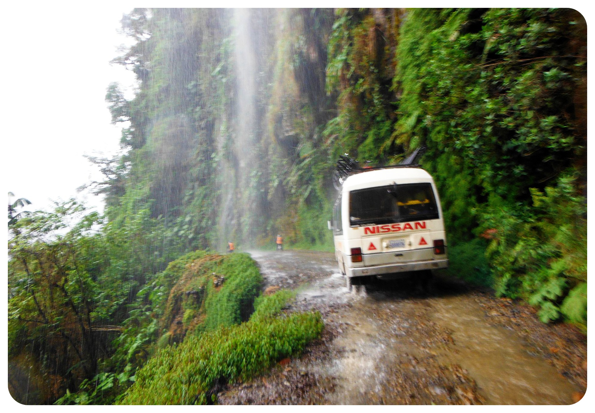 death road bolivia van
