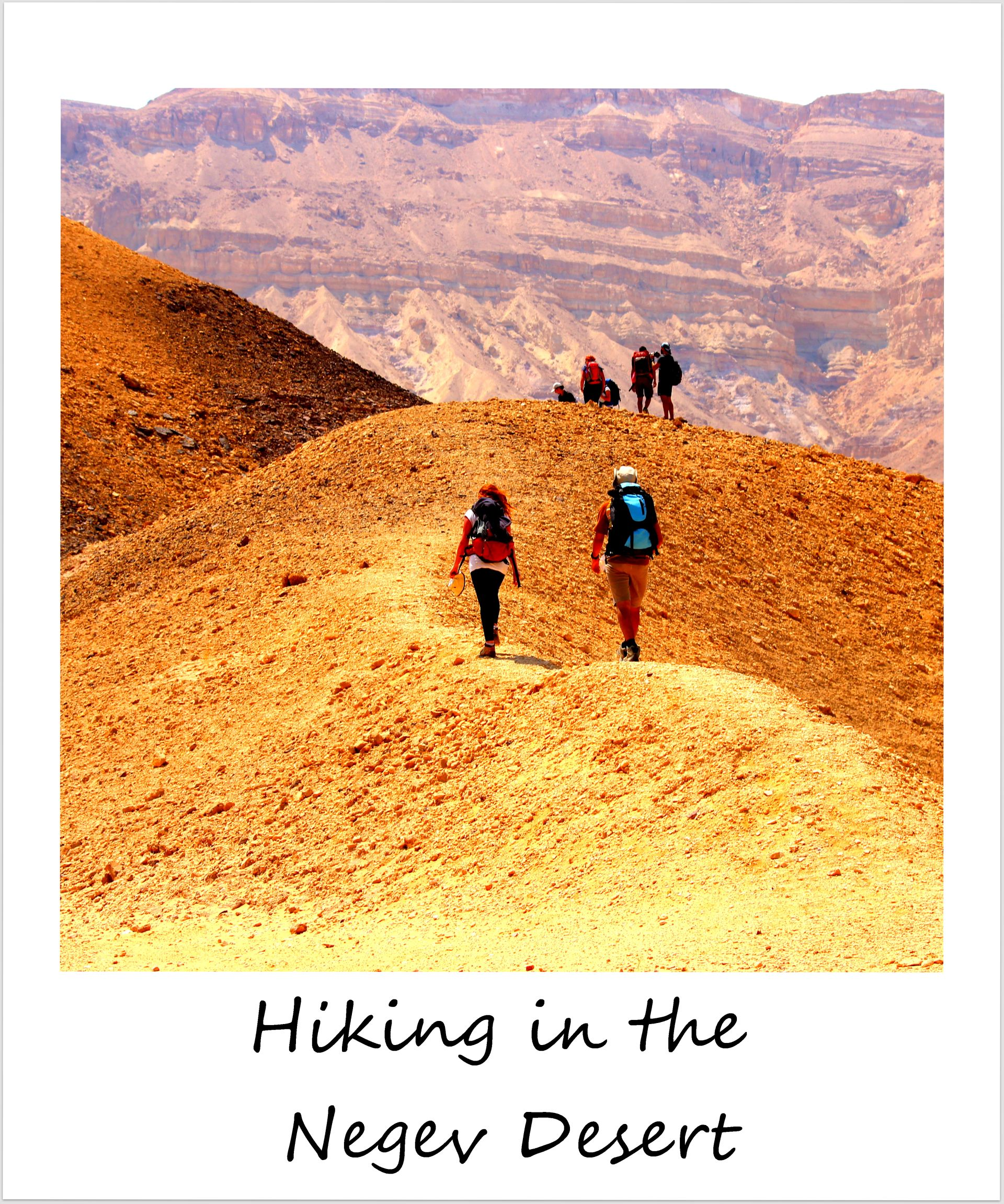 polaroid of the week israel national trail negev desert