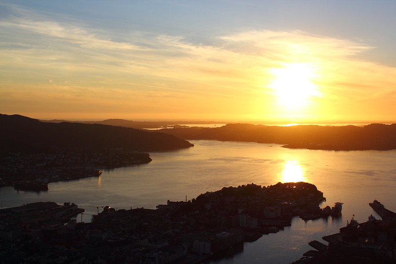 Sunset at Fløyen