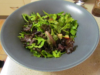 Mixed Greens with Caramelized Walnuts and Balsamic-Pear Vinaigrette