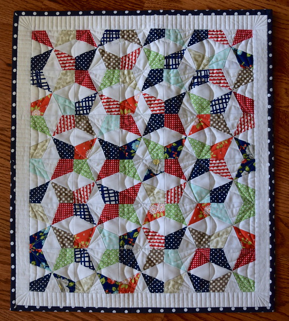 Paper pieced mini quilt