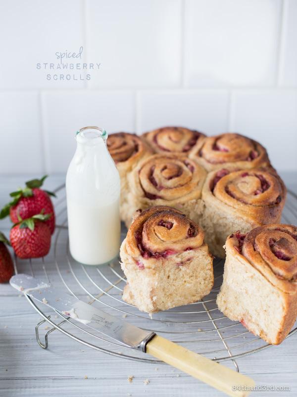 Spiced Strawberry Scrolls