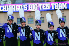 Chicago's Big Ten Team ::     The Northwestern University 'Wildcat' Marching Band gathers for its post-game ritual at  Ryan Field after Wildcat Football hosted California on August 30, 2014.  Photo by Daniel M. Reck '08 MSEd.