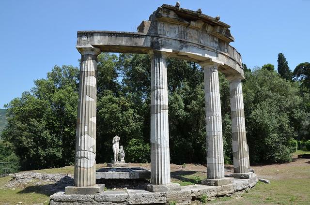 The circular temple dedicated to the Venus of Cnidus, Hadrian's Villa, Tivoli