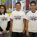 Winners of the 2014 Entrepreneurial Teen Grand Challenge; left to right Xena Martinez, Alejandro Atencio and Joshua Lopez.