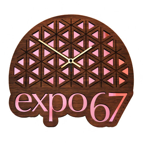 Expo 67 Clock from Main and Local