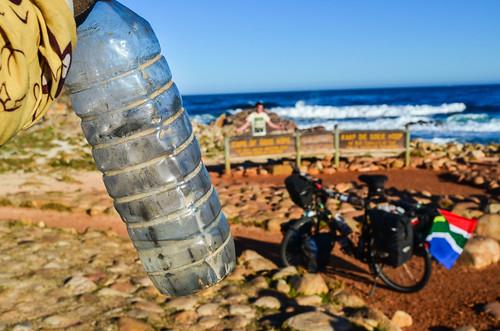 Hépar plastic bottle, still alive after 26000 KM of rough roads through Africa