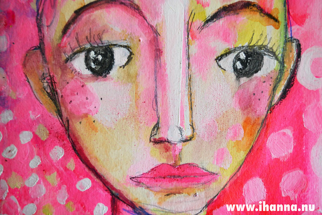 Art Journal Detail: Pink Face