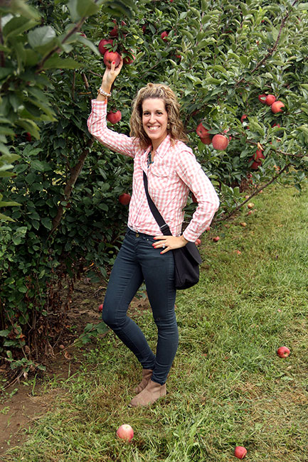 Me-picking-an-apple